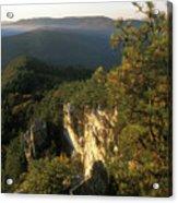 Monument Mountain Devils Pulpit Overlook Acrylic Print