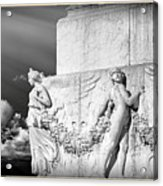 Monument Particular In Rome Acrylic Print by Stefano Senise
