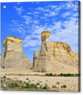 Monument Rocks In Kansas 2 Acrylic Print
