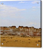 Monument Rocks In Western Kansas Acrylic Print