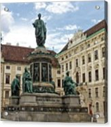 Monument To Emperor Franz I, Innerer Burghof In The Hofburg Imperial Palace. Vienna, Austria. Acrylic Print