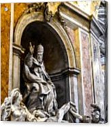 Monument To Pope Gregory Xiii In St Peter's Basilica Acrylic Print