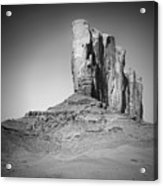 Monument Valley Camel Butte Black And White Acrylic Print