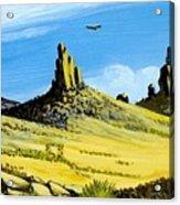 Monument Valley Eagle Rock Acrylic Print