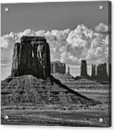 Monument Valley In Black And White  Acrylic Print