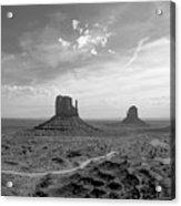 Monument Valley Monochrome Acrylic Print