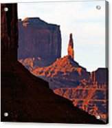 Monument Valley Pano Work D Acrylic Print