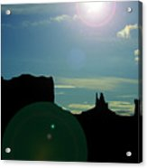 Monument Valley silhouette Acrylic Print
