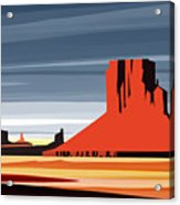 Monument Valley Sunset Digital Realism Acrylic Print