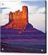 Monument Valley Sunset One Acrylic Print