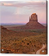 Monument Valley Sunset Panorama Acrylic Print
