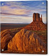 Monument Valley West Mitten Acrylic Print