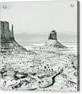 Monument Valley, Winter Acrylic Print
