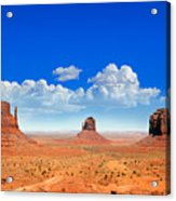 Monument Vally Buttes Acrylic Print by Jane Rix