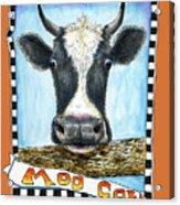 Moo Cow In Orange Acrylic Print