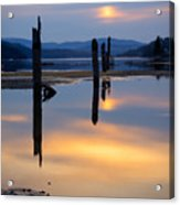 Mood On The Bay Acrylic Print by Idaho Scenic Images Linda Lantzy