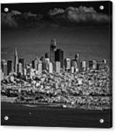 Moody Black And White Photo Of San Francisco California Acrylic Print