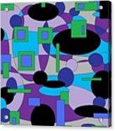 Moody Purple Acrylic Print