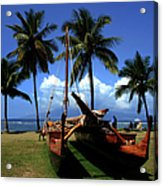 Moolele Canoe At Hui O Waa Kaulua Lahaina Acrylic Print