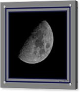 Moon 61 Percent Acrylic Print