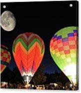 Moon And Balloons Acrylic Print