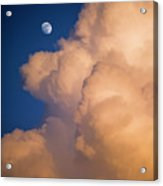 Moon And Cloud Acrylic Print