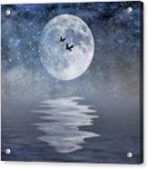 Moon And Sea Acrylic Print