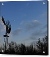 Moon And Windmill Acrylic Print