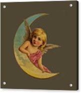 Moon Angel T Shirt Design Acrylic Print