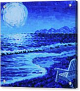 Moon Beach Acrylic Print by Tommy Midyette
