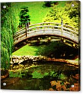 Moon Bridge At Huntington Acrylic Print