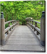 Moon Bridge In Spring Acrylic Print