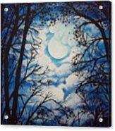 Moon Clouds Acrylic Print