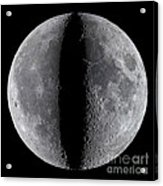 Moon Composite, First And Last Quarter Acrylic Print
