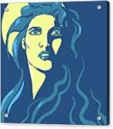 Moon Girl Acrylic Print
