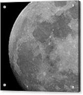 Moon In B And W Acrylic Print