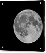 Moon In Night Sky Acrylic Print