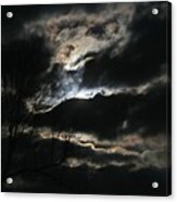 Moon In The Clouds Over Kentucky Lake Acrylic Print