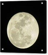 Moon In The Dark Sky Acrylic Print