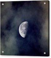 Moon In The Mist Acrylic Print