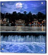 Moon Light - Boathouse Row Philadelphia Acrylic Print