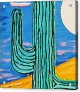 Moon Light Cactus L Acrylic Print