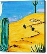 Moon Light Cactus R Acrylic Print
