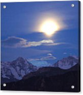 Moon Light Over The Alps Acrylic Print