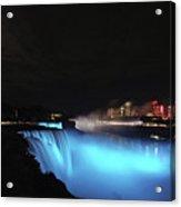 Moon Over Blue Niagara Acrylic Print