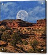 Moon Over Canyonlands Acrylic Print