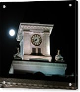 Moon Over City Hall Acrylic Print