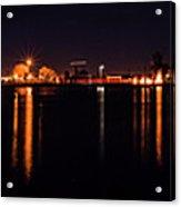 Moon Over Lake Acrylic Print