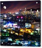 Moon Over Los Angeles Acrylic Print