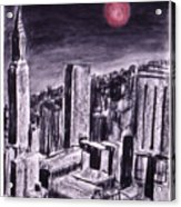 Moon Over Manhattan Acrylic Print
